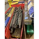 LOT OF ASSORTED SIZE DRILL BITS