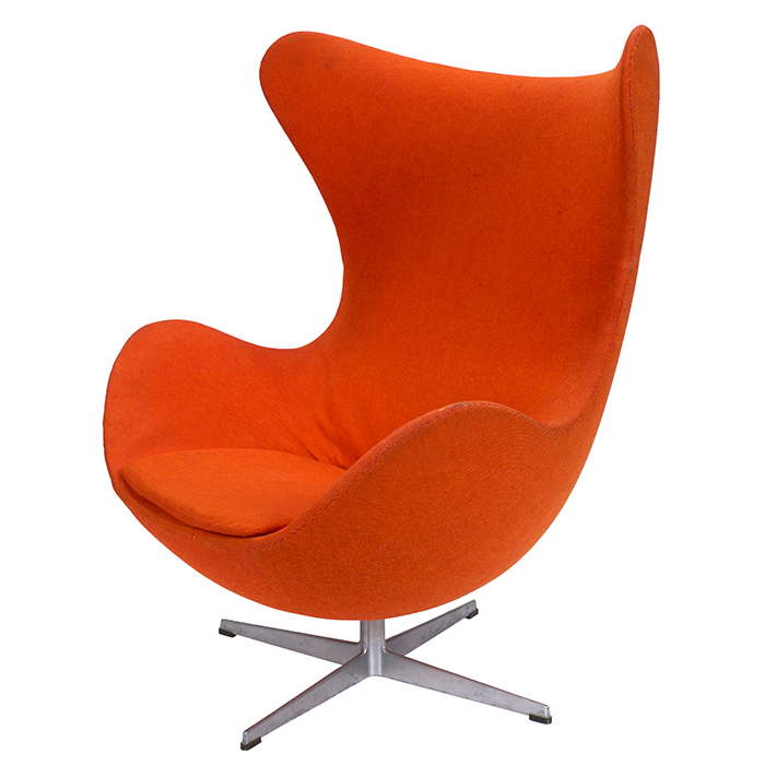 Arne jacobsen egg chair fritz hansen denmark 1960s for Egg chair original