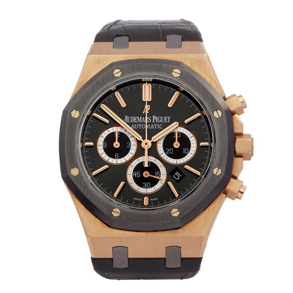 Audemars Piguet Royal Oak Leo Messi Chronograph Rose Gold & Titanium - 26325OL.OO.D005CR.01 - Image 2 of 7