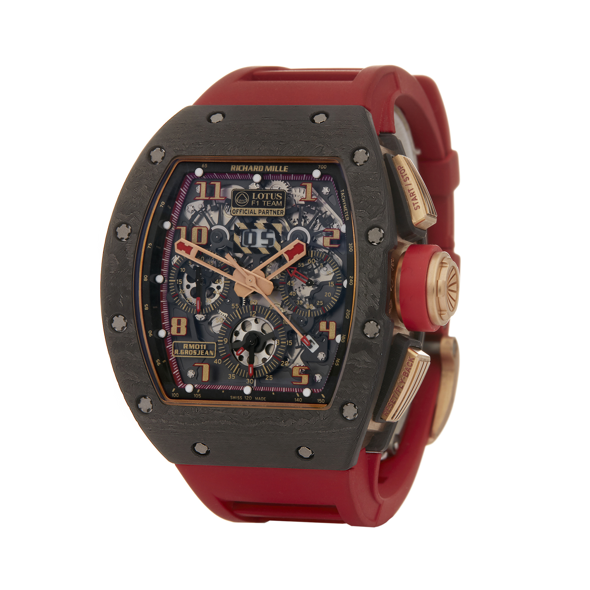 Lot 6 - Richard Mille RM011 Lotus F1 18K Rose Gold & Carbon - Rm011