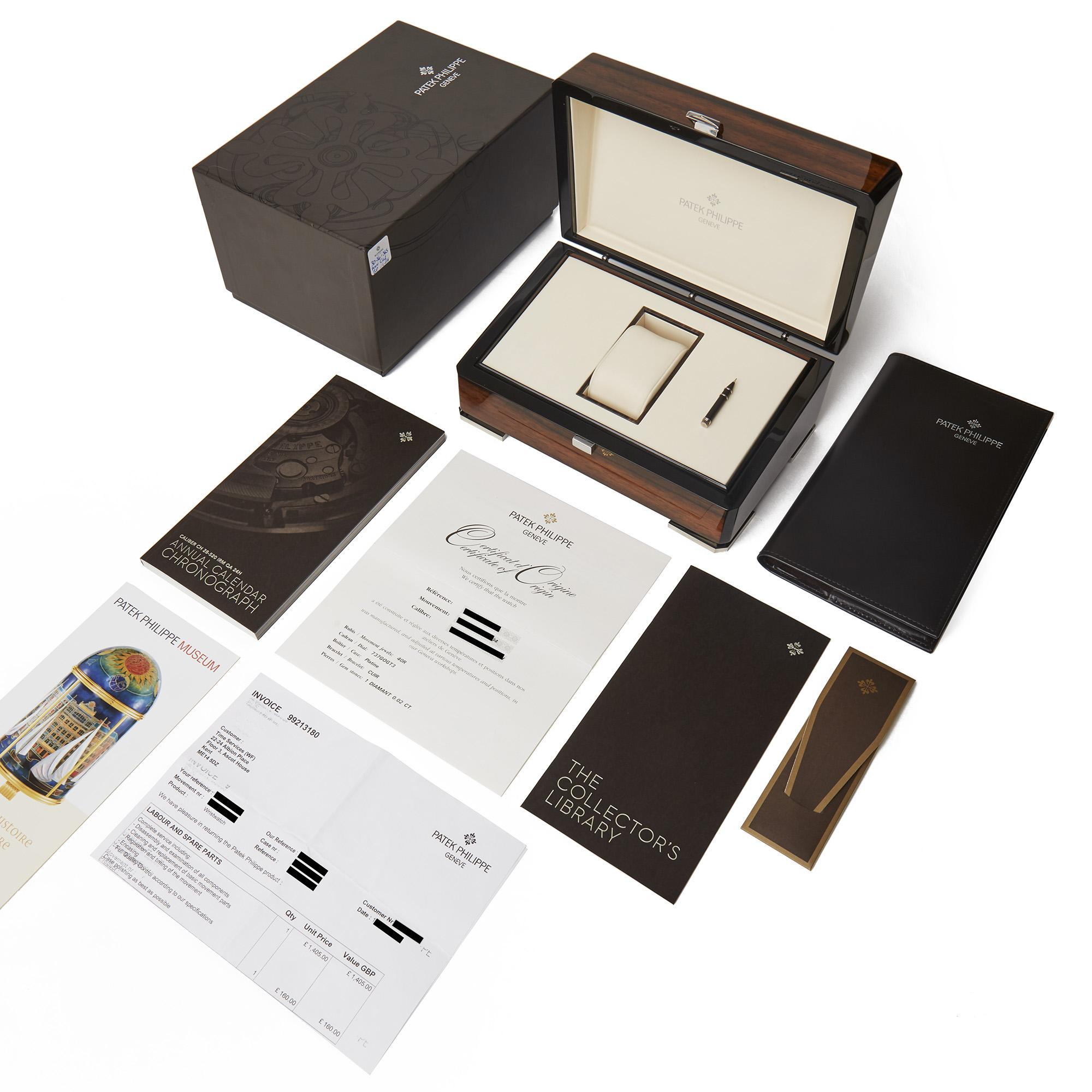 Patek Philippe Complication Annual Calendar Flyback Chronograph Platinum - 5960P-001 - Image 2 of 7