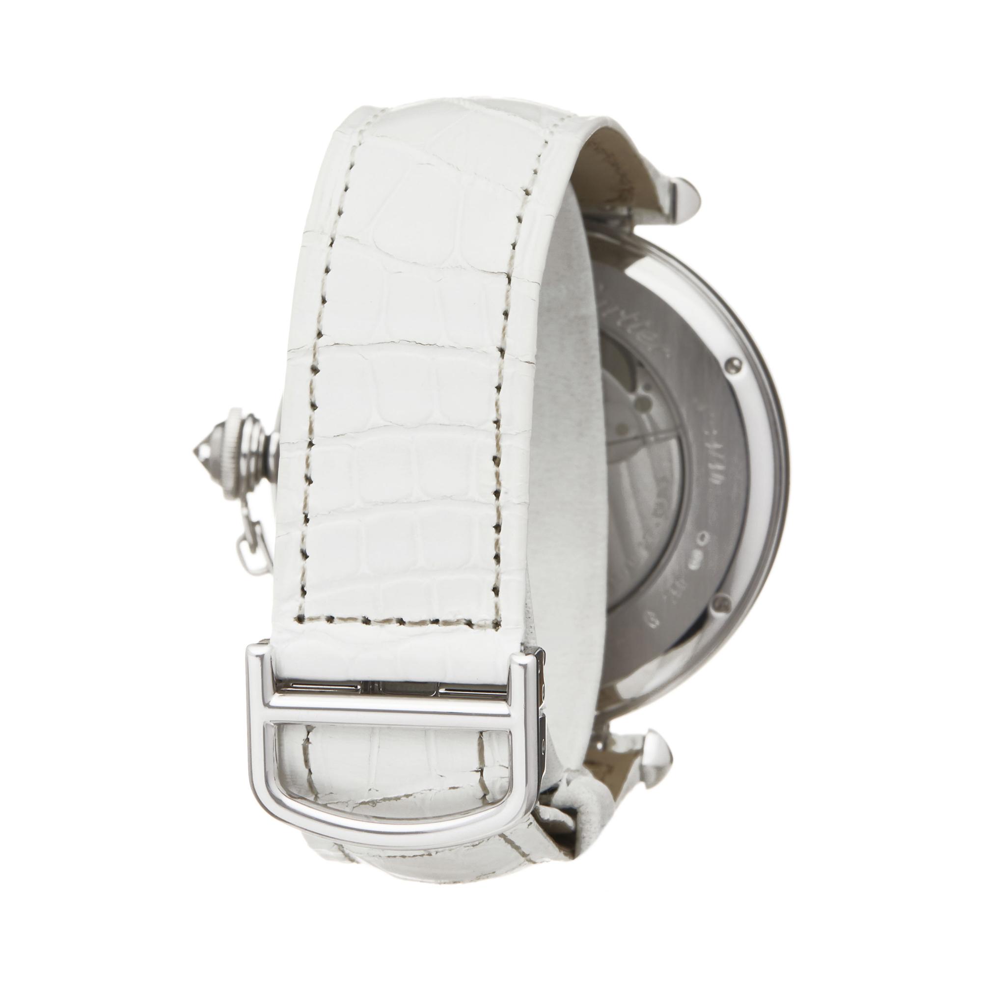 Cartier Pasha de Cartier Enamel Dial 18k White Gold - 3142L - Image 4 of 7