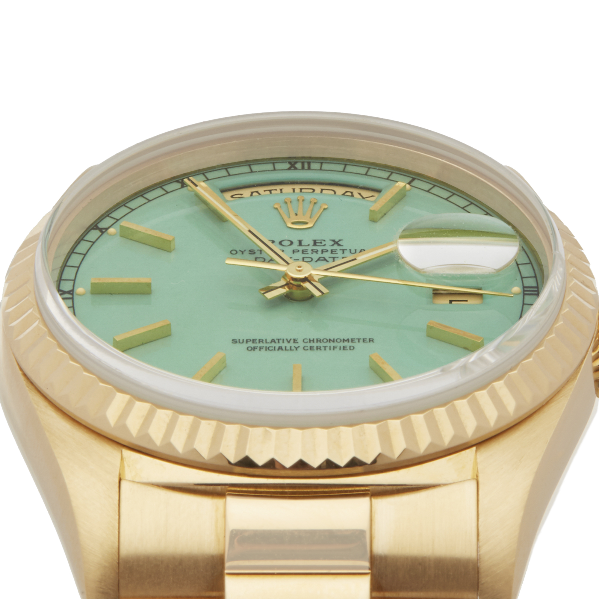 Lot 27 - Rolex Day-Date 36 Stella Dial 18k Yellow Gold - 18238