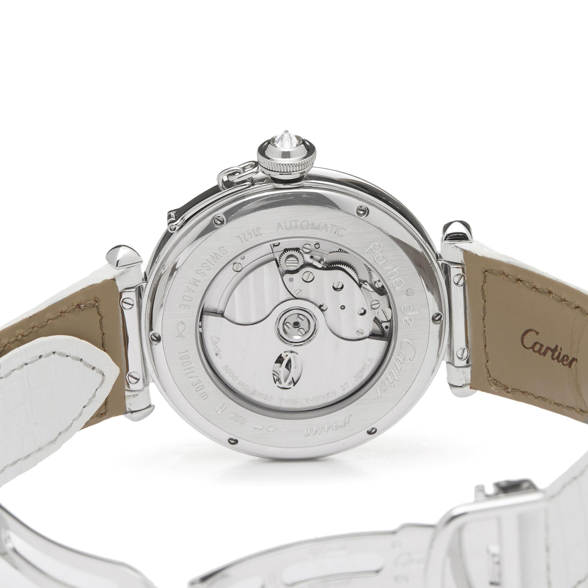 Cartier Pasha de Cartier Enamel Dial 18k White Gold - 3142L - Image 3 of 7