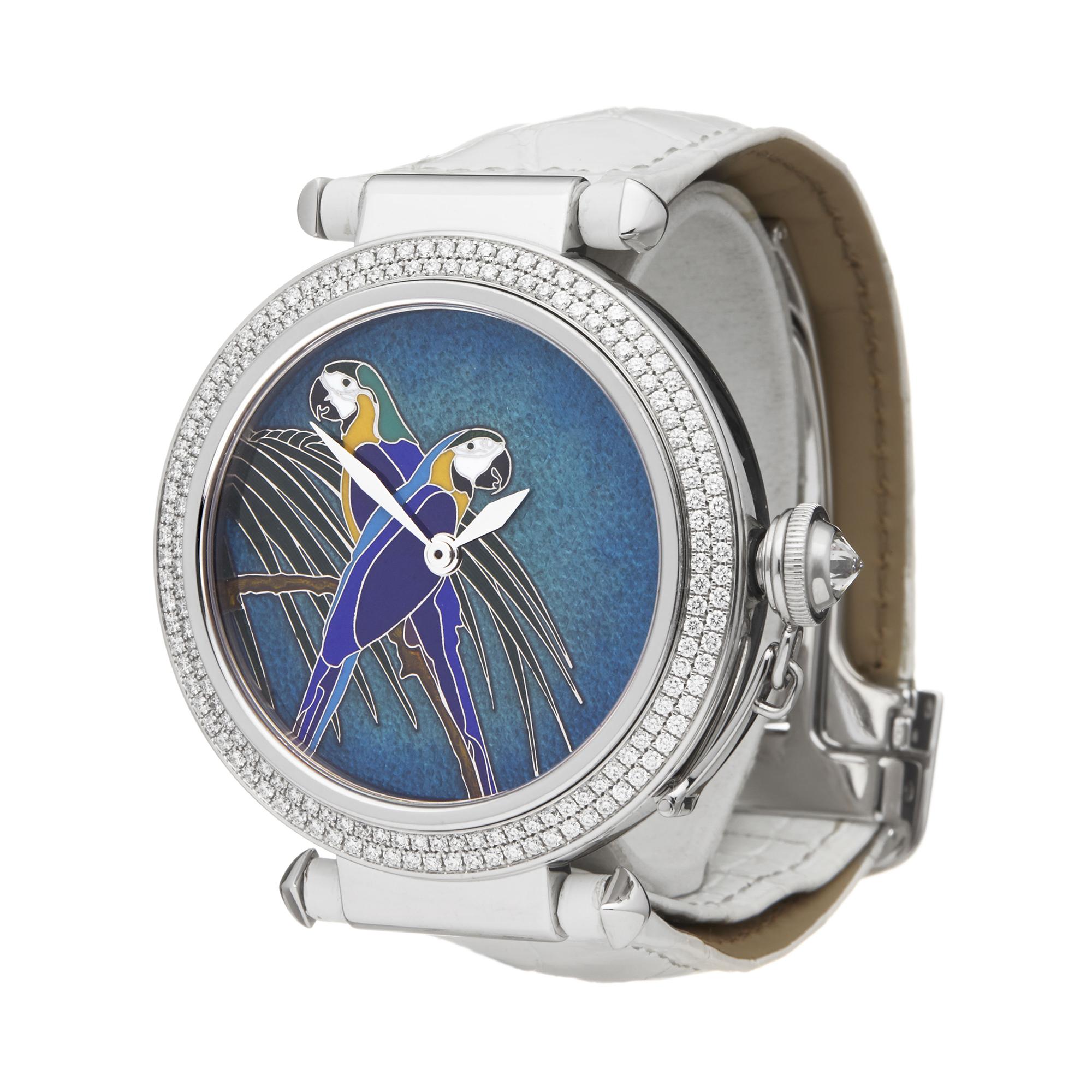 Cartier Pasha de Cartier Enamel Dial 18k White Gold - 3142L