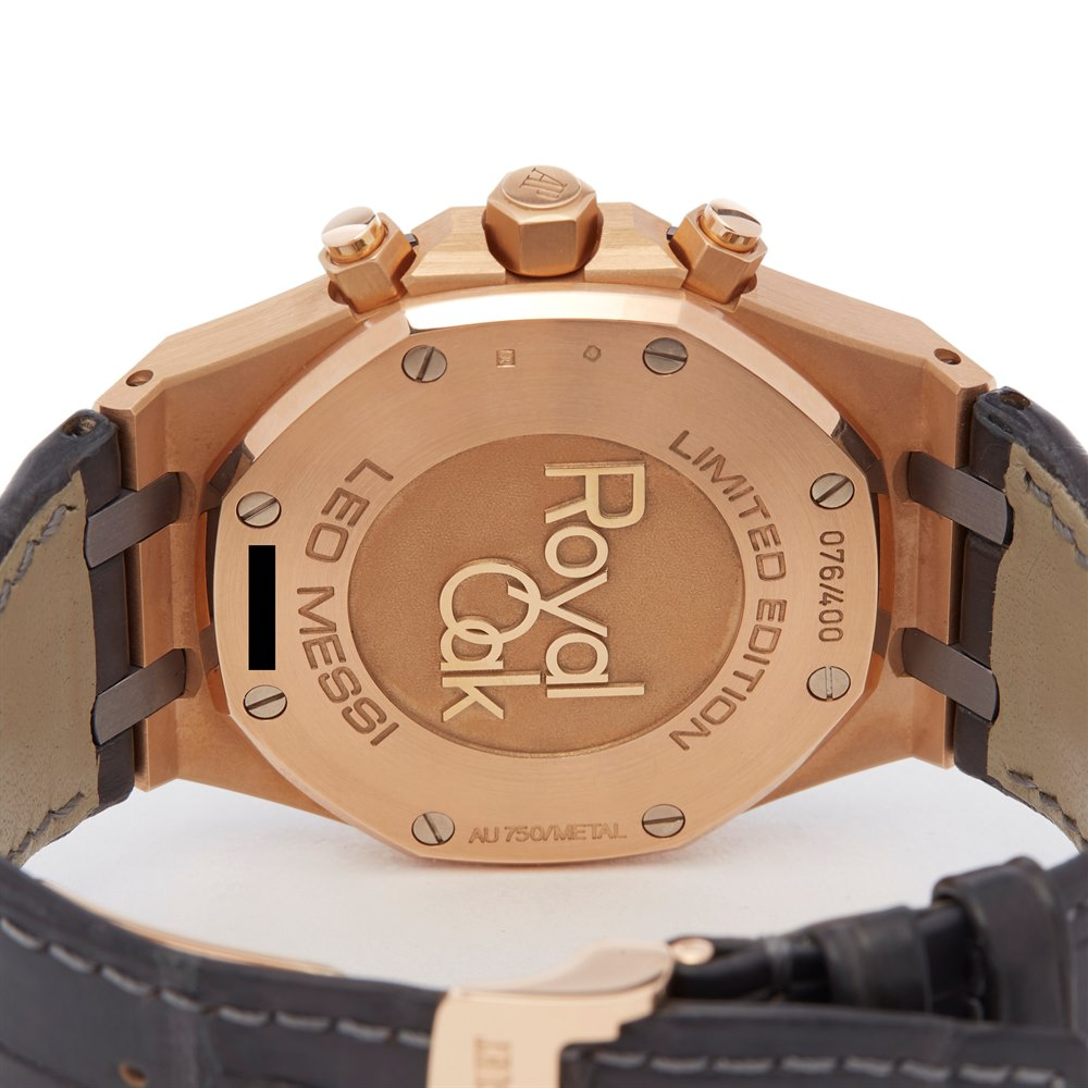 Audemars Piguet Royal Oak Leo Messi Chronograph Rose Gold & Titanium - 26325OL.OO.D005CR.01 - Image 6 of 7