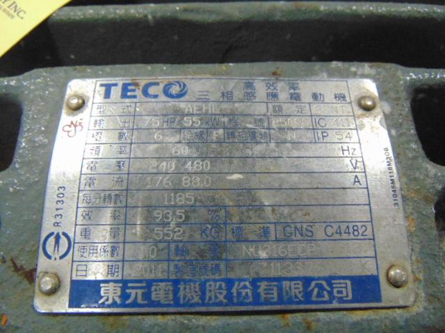 TRANSFER PUMP, LI MING, 75 HP motor - Image 3 of 3
