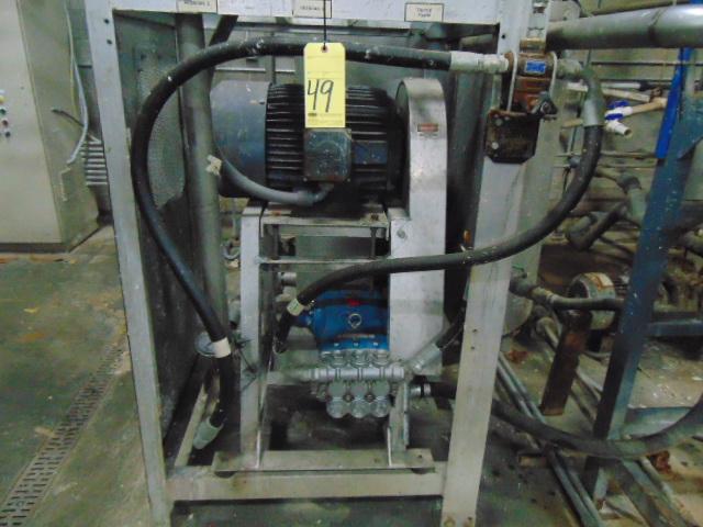 BUFFER TANK, TAIWAN PULP MOLDING MDL. TPM-BTAE, approx. 150 gal., w/pump - Image 5 of 8