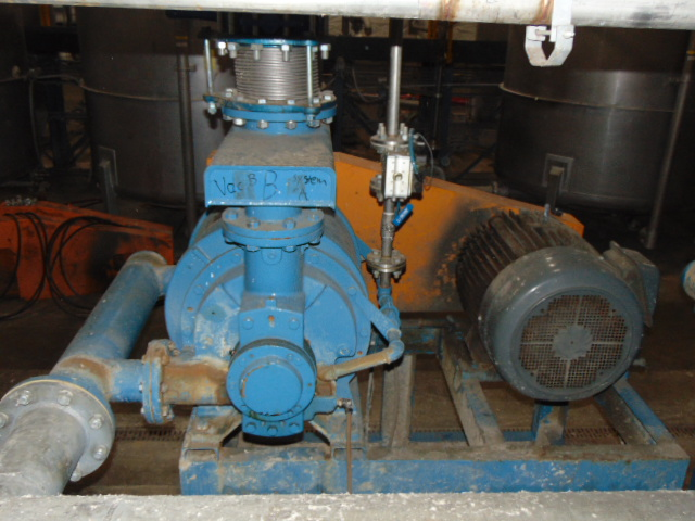 WATER RING VACUUM PUMP, CUTES, mtd. on fabricated stand - Image 2 of 2