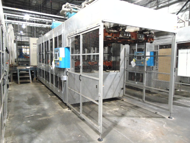 THERMOFORMING MACHINE, TAIWAN PULP MOLDING MDL. TPM-1500, mfg. 5/2015, installed 2016, 1500mm x
