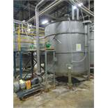 STAINLESS STEEL CONE BOTTOM AGITATED TANK, TAIWAN PULP MACHINERY MDL. TPM-HLPWTAE, 600 gal. cap.,