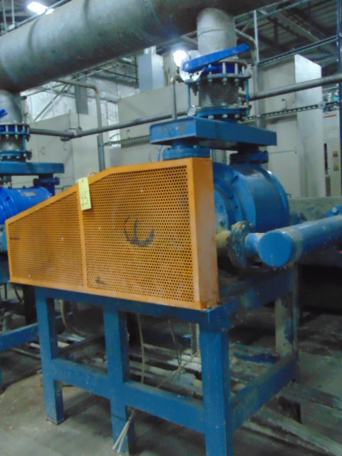 WATER RING VACUUM PUMP, CUTES, mtd. on fabricated stand