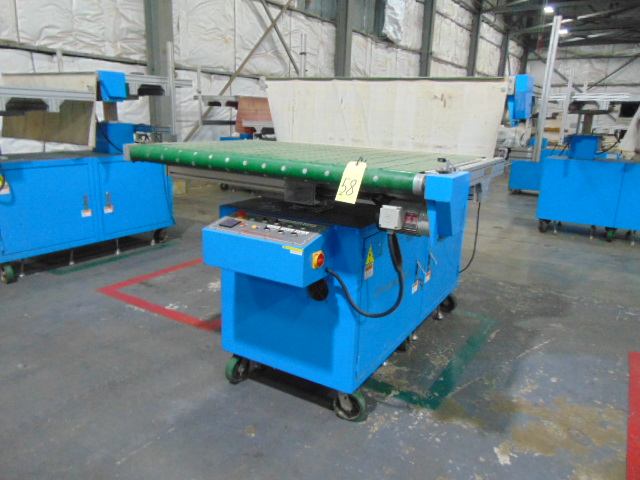 TWO-STAGE AUTO STACKER, TAIWAN PULP MOLDING MDL. TPN-ASAE-1500, 5 HP. conveyor & controls, S/N
