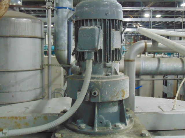 STAINLESS STEEL CONE BOTTOM AGITATED TANK, TAIWAN PULP MACHINERY MDL. TPM-HLPWTAE, 600 gal. cap., - Image 3 of 5