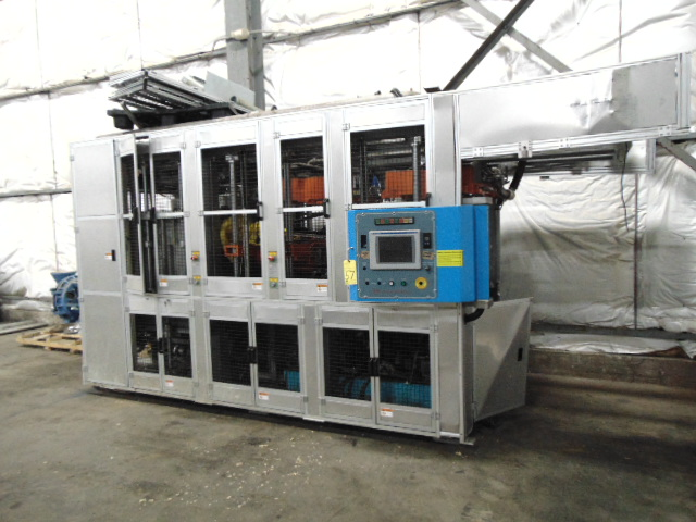 THERMOFORMING MACHINE, TAIWAN PULP MOLDING MDL. TPM-850, mfg. 5/2015, 850mm x 750mm x 100mm