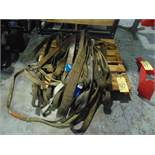 LOT OF SLINGS, assorted (on one skid)