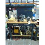 """MAPLE TOP WORK BENCH, 48"""" x 24"""" (Note: cannot be removed until empty)"""