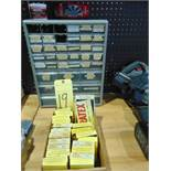 LOT OF ABRASIVES, CRATEX, w/cabinet & contents, assorted