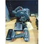 LOT CONSISTING OF: Porter Cable cordless drill & circular saw, 18 V.
