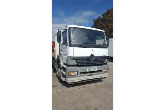 2003, Mercedes Atego 2528L 6x2 Flatbed Lorry Reg No  BU53 OOC, KMS