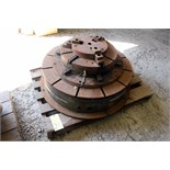 PNEUMATIC ROTARY TABLE, 3 1/2', w/3-jaw chuck