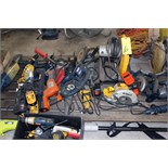 LOT CONSISTING OF: electrical tools, chop saws, grinders, etc.