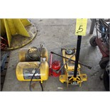 LOT CONSISTING OF: portable 5 gal. air tanks, 2 T. jack & bottle jack