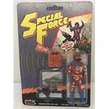 "1980's Special Force ""Red Fox"" action figure by Sungold MFG Toys in original unopened blister pack."