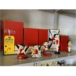 ASSORTED CONNOISSEUR BETTY BOOP FIGURINES - 3''-6'' (NEW IN BOX)