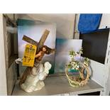 R&R GIFTS INSPIRATIONAL COLLECTIONS - JESUS WITH CROSS (14'') / CROWN OF THORNS (10'')