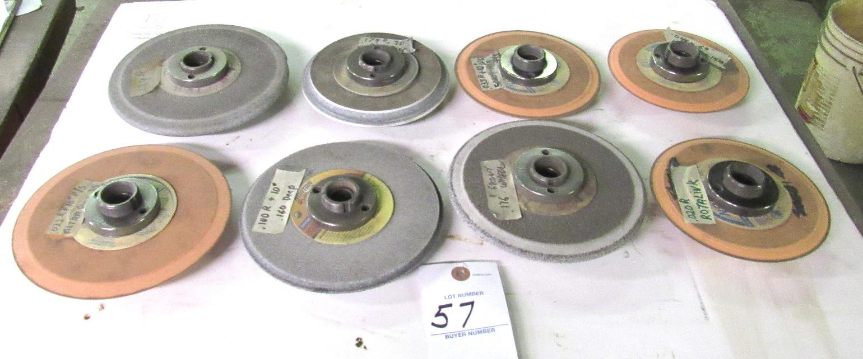 Lot 57 - 8- Grinding Wheel Hubs w/ Grinding Wheel