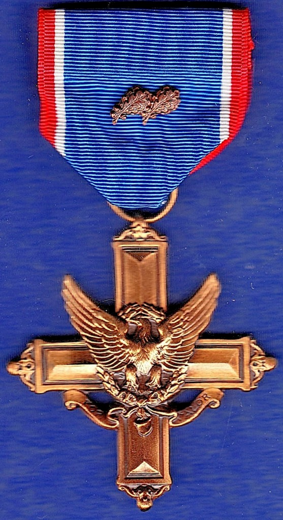 Lot 44 - USA Army Distinguished Service Cross (Modern version) with Army service oak leaf pip. GVF