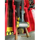 LOT OF ASSORTED SIZE DEAD BLOW HAMMERS