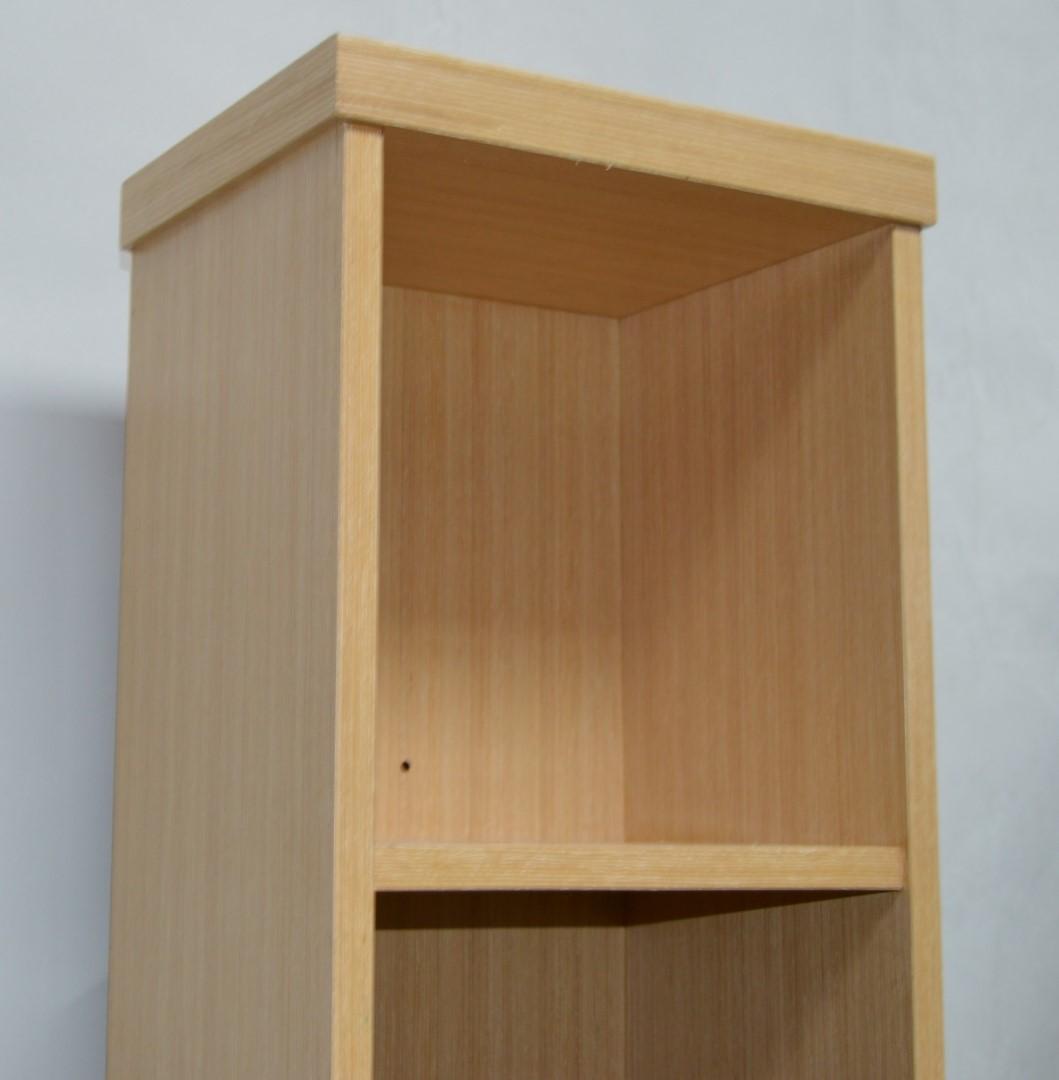 1 x vogue arc series 2 bathroom storage shelving unit wall mounted or floor standing oak fini