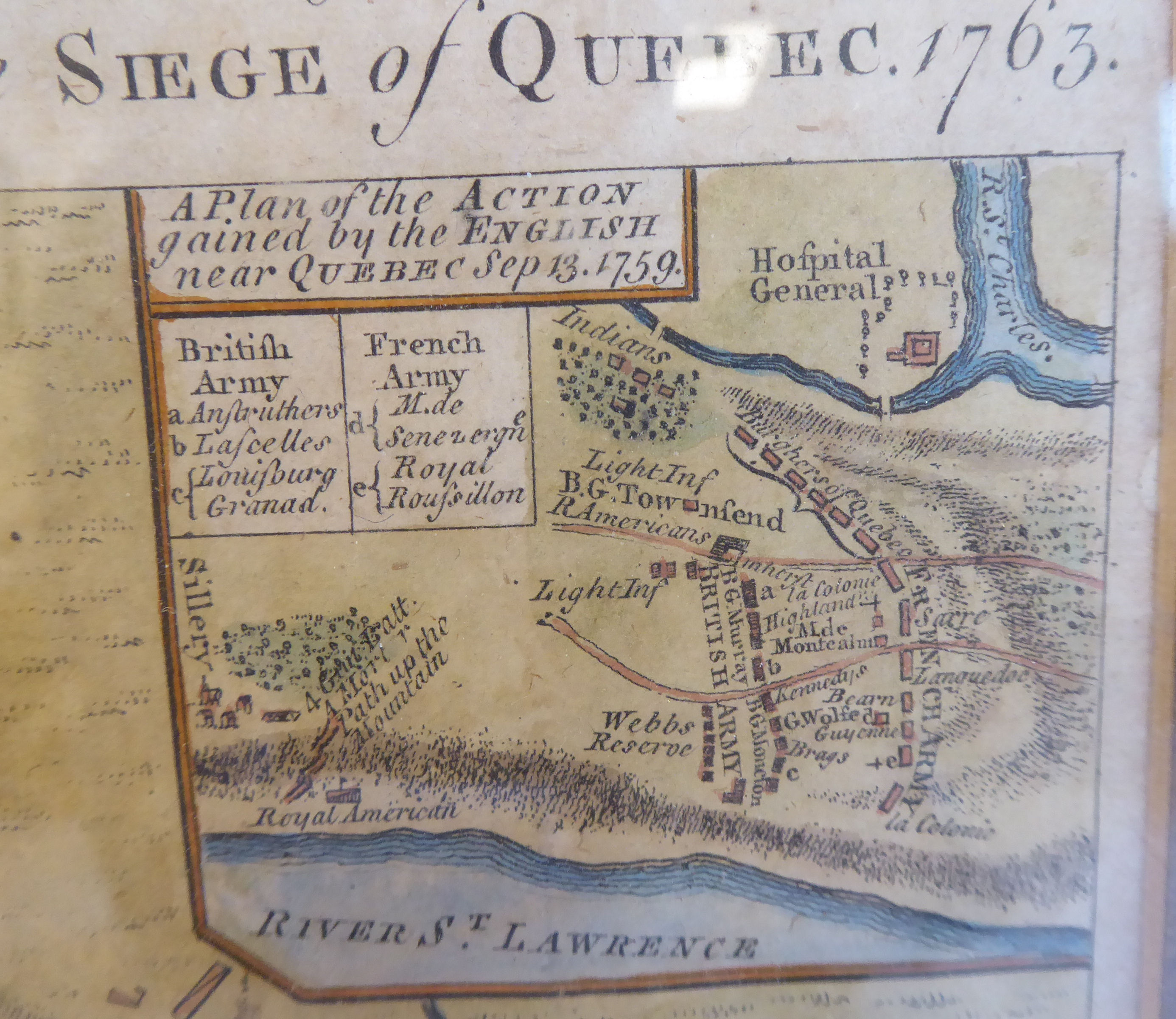 Lot 38 - A late 18thC coloured map 'A view and accurate plan of the River St.