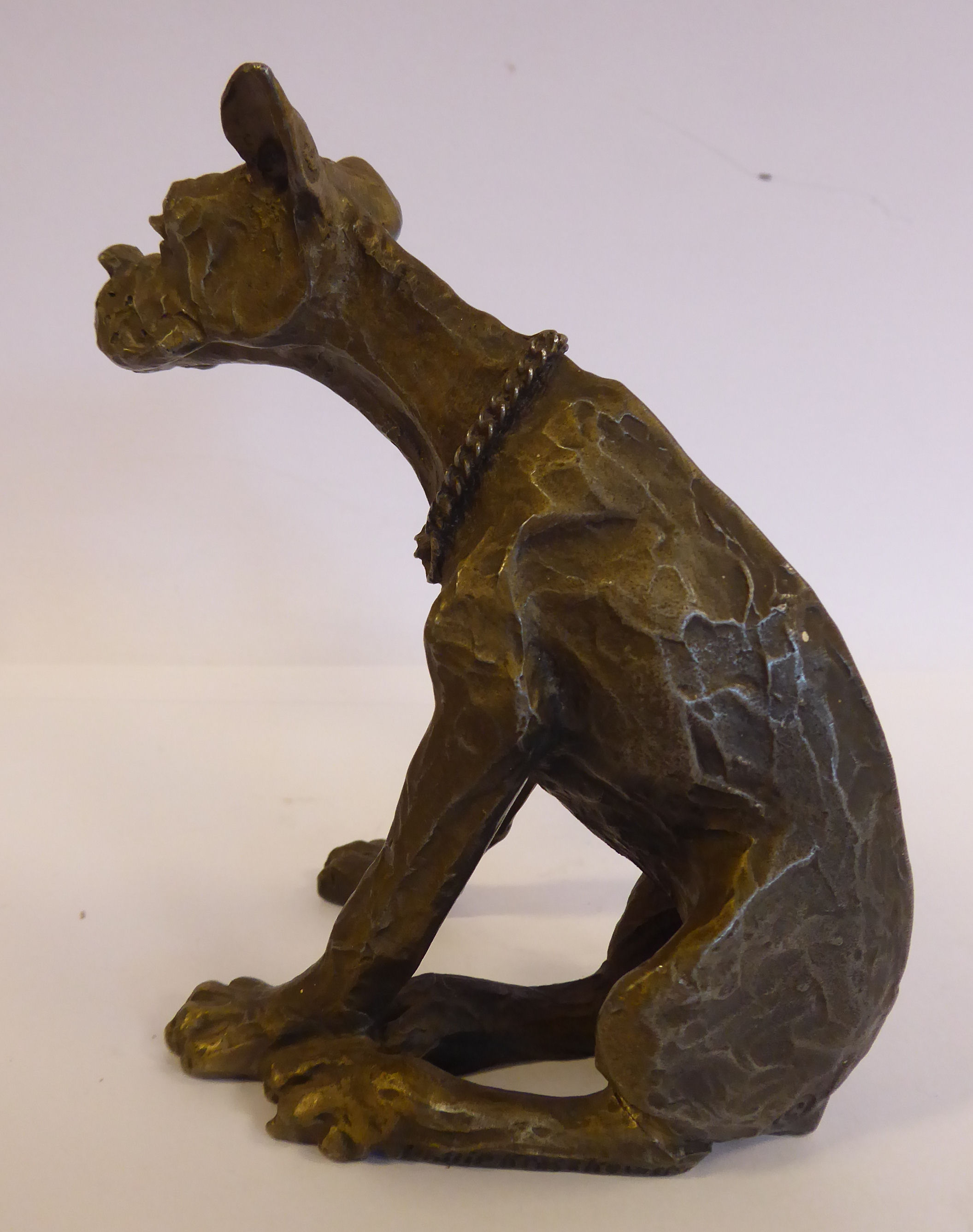 Lot 60 - Philip Kraczkowski - a Hudson pewter model of a seated, whimsical Great Dane 4.