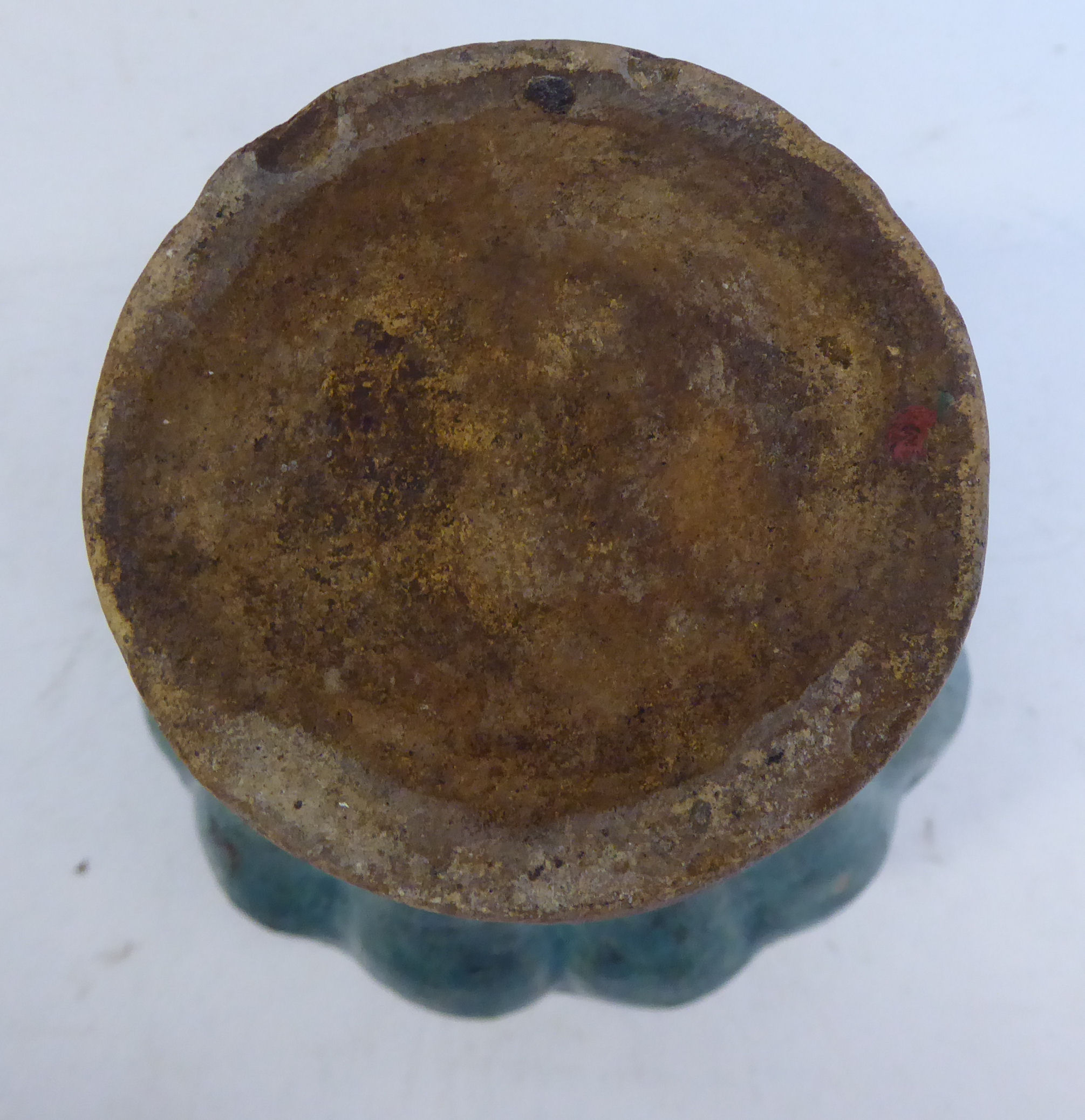 Lot 10 - A late 17th/early 18thC Chinese turquoise glazed moulded,