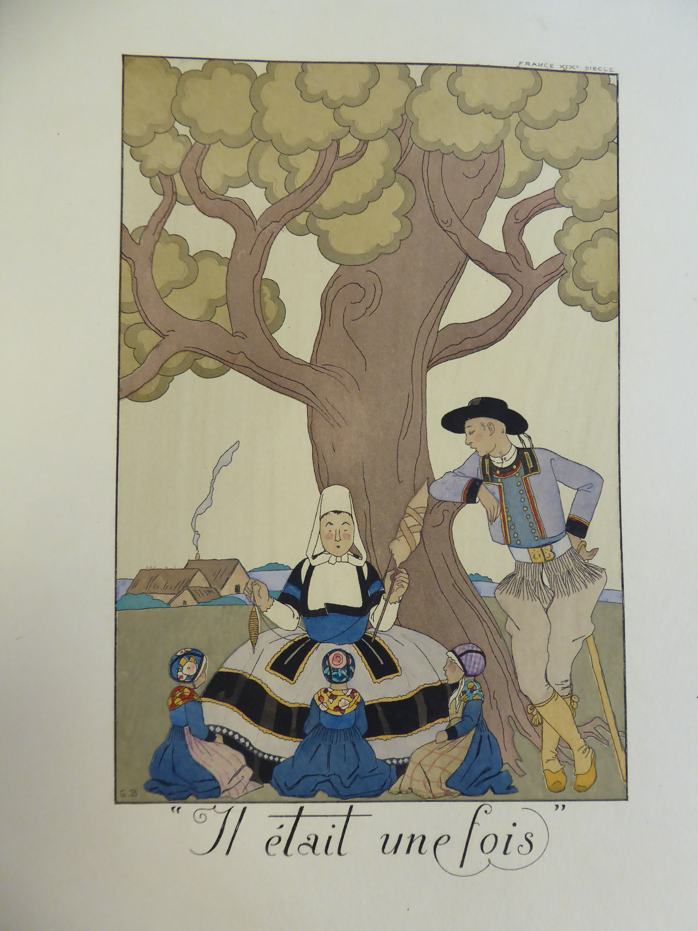 Lot 41 - A folio cover for George Barbier's 'Falbalas & Fenfreluches' for 1925,