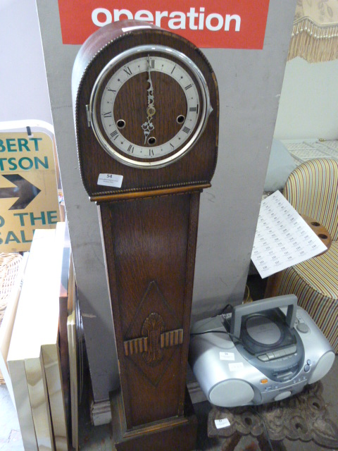 Lot 54 - *Pre War Grandmother Clock
