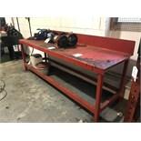 2.5M Metal Workshop Bench w/ Upstand