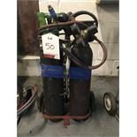 Bottle Trolley w/ Welding Torch - Bottles Not Included