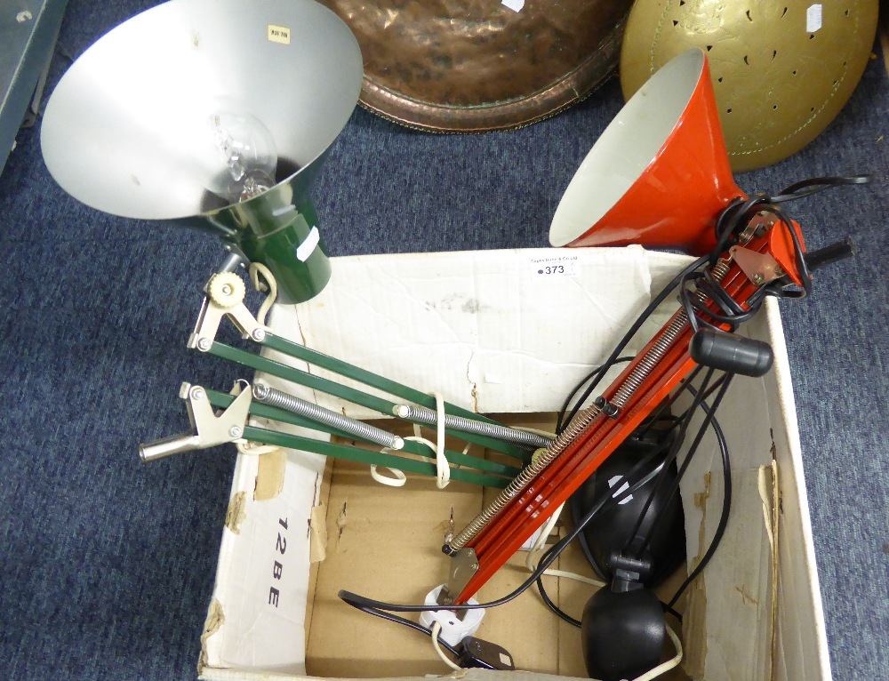 Lot 373 - THREE ANGLEPOISE TABLE LAMPS