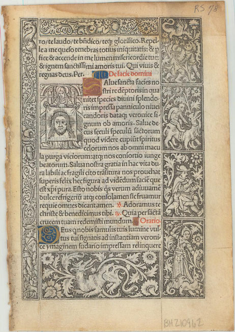 Lot 737 - [Book of Hours Leaf] Superb vellum leaf from this important transitional period when books began