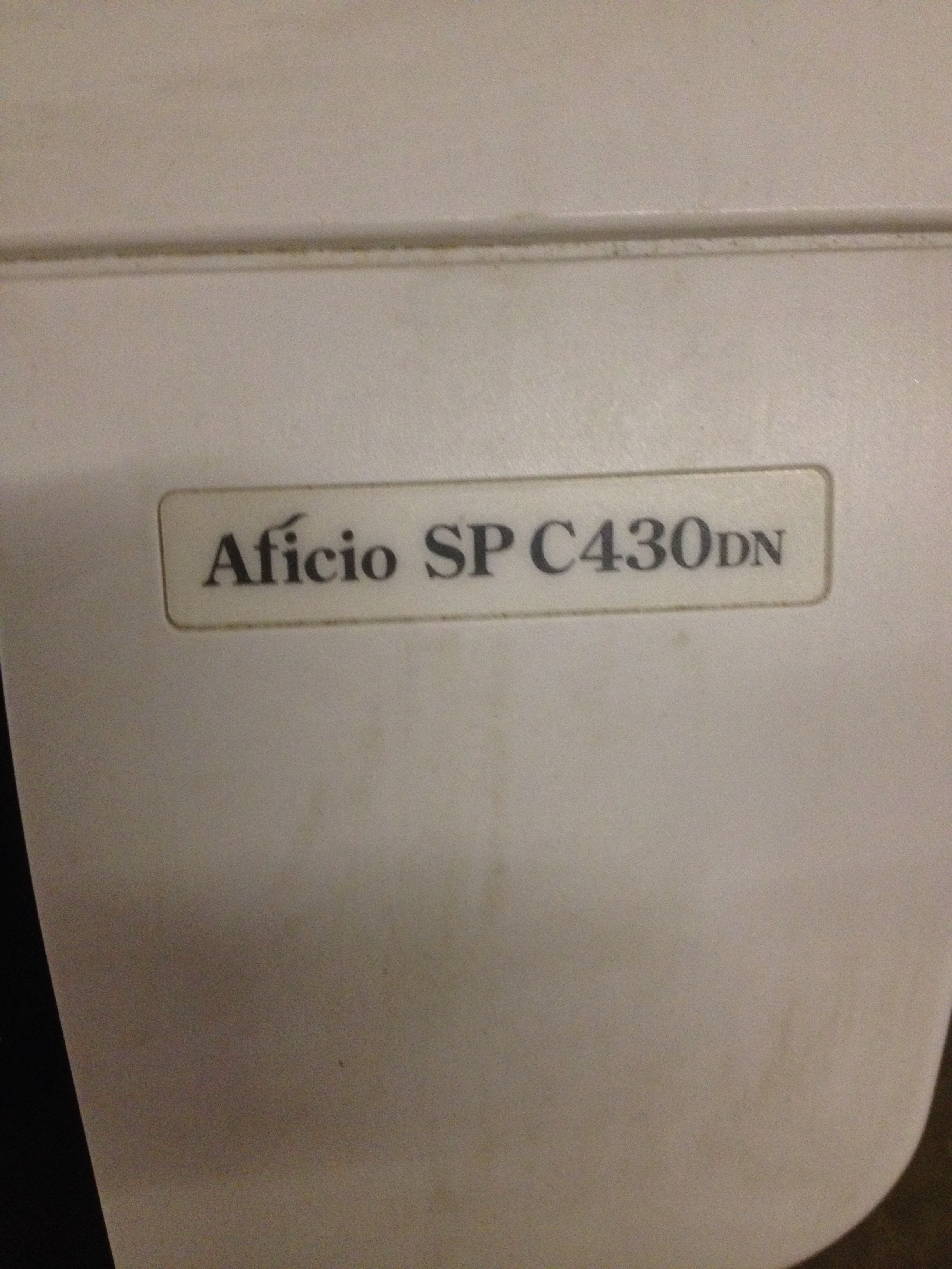 Ricoh Printer - Aficio SP C430DN (White) - Image 7 of 7