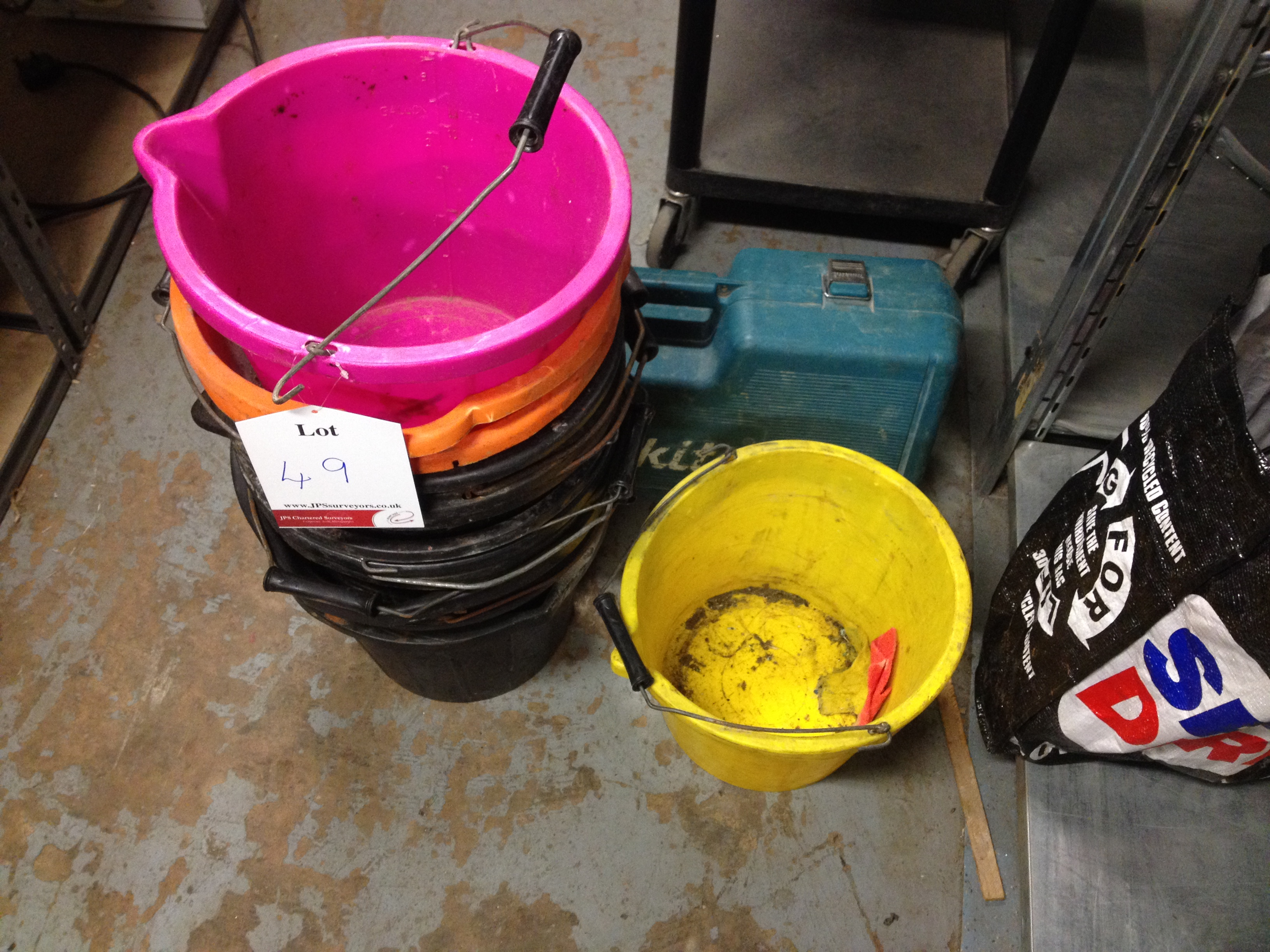 13 x Various Buckets, 1 x Drill Case - Image 2 of 2