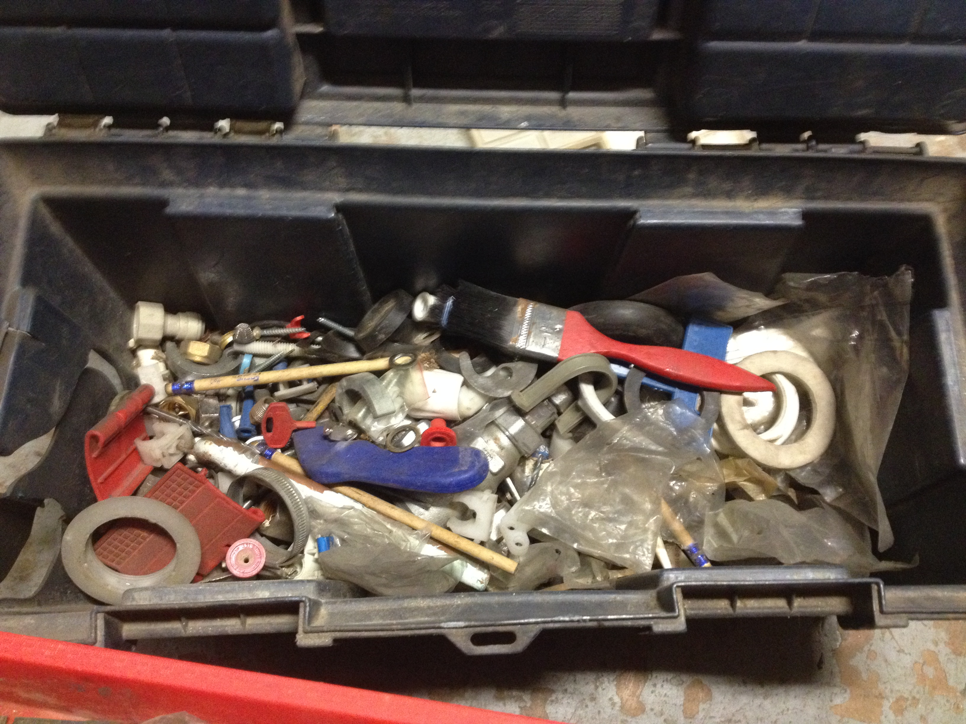 1 X Tool Box with Various tools inc Screwdrivers & Drill Bits - SEE PICTURES FOR FULL CONTENTS - Image 3 of 3