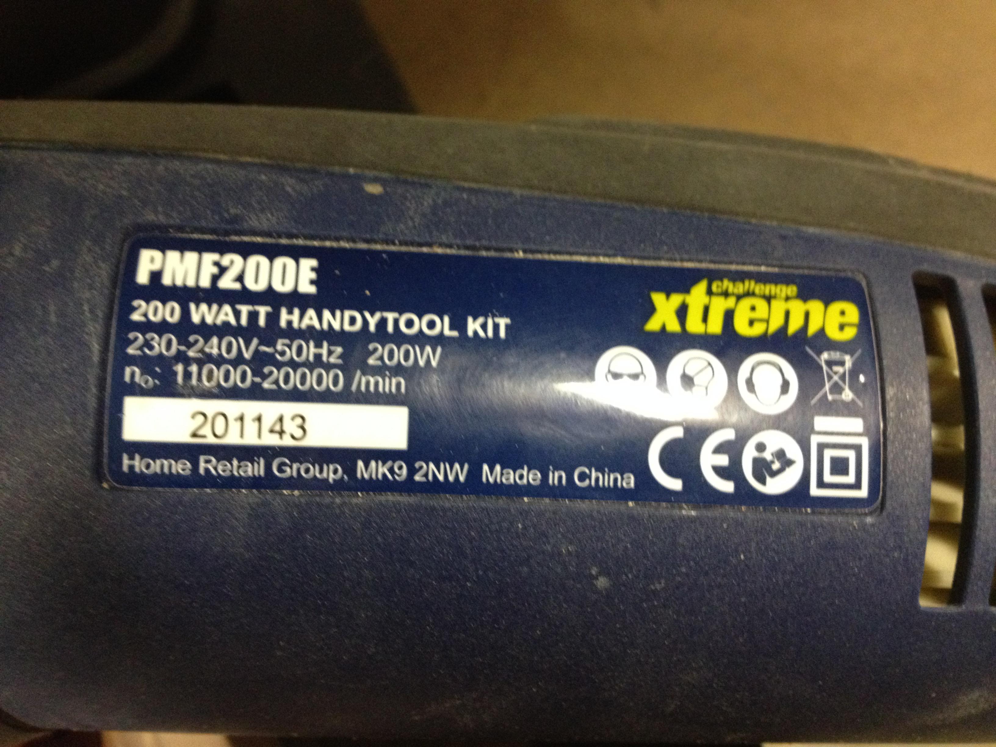 1 x Challenge xtreme Sander 200 Watt PMF200E - Image 2 of 2