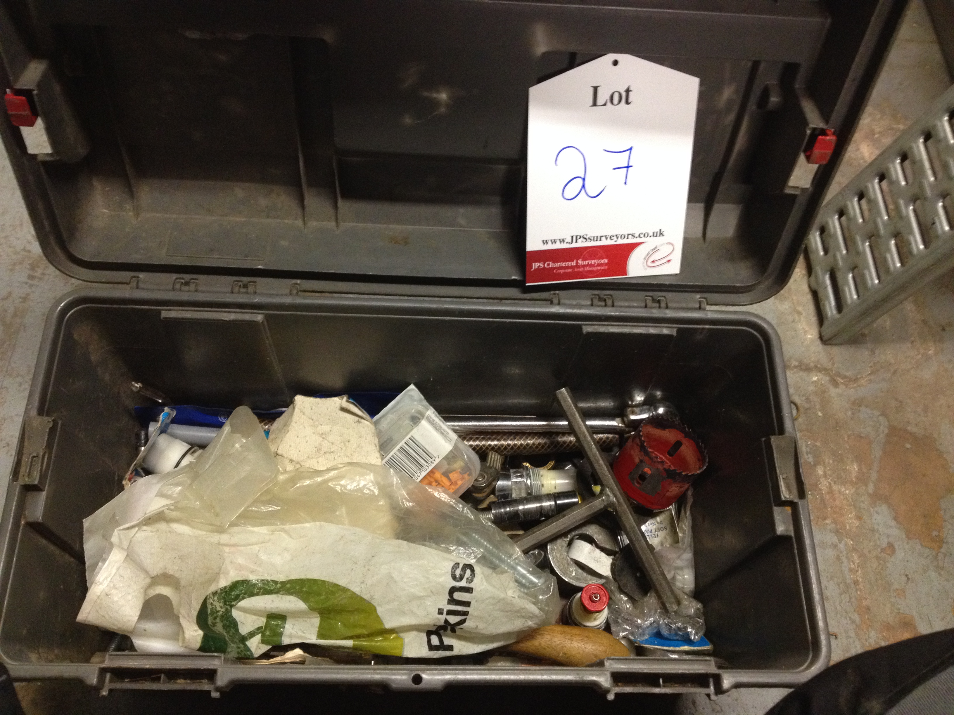 1 x Tool box with various tools and accessories inc Screwdrivers & Drill Bits - Image 2 of 3