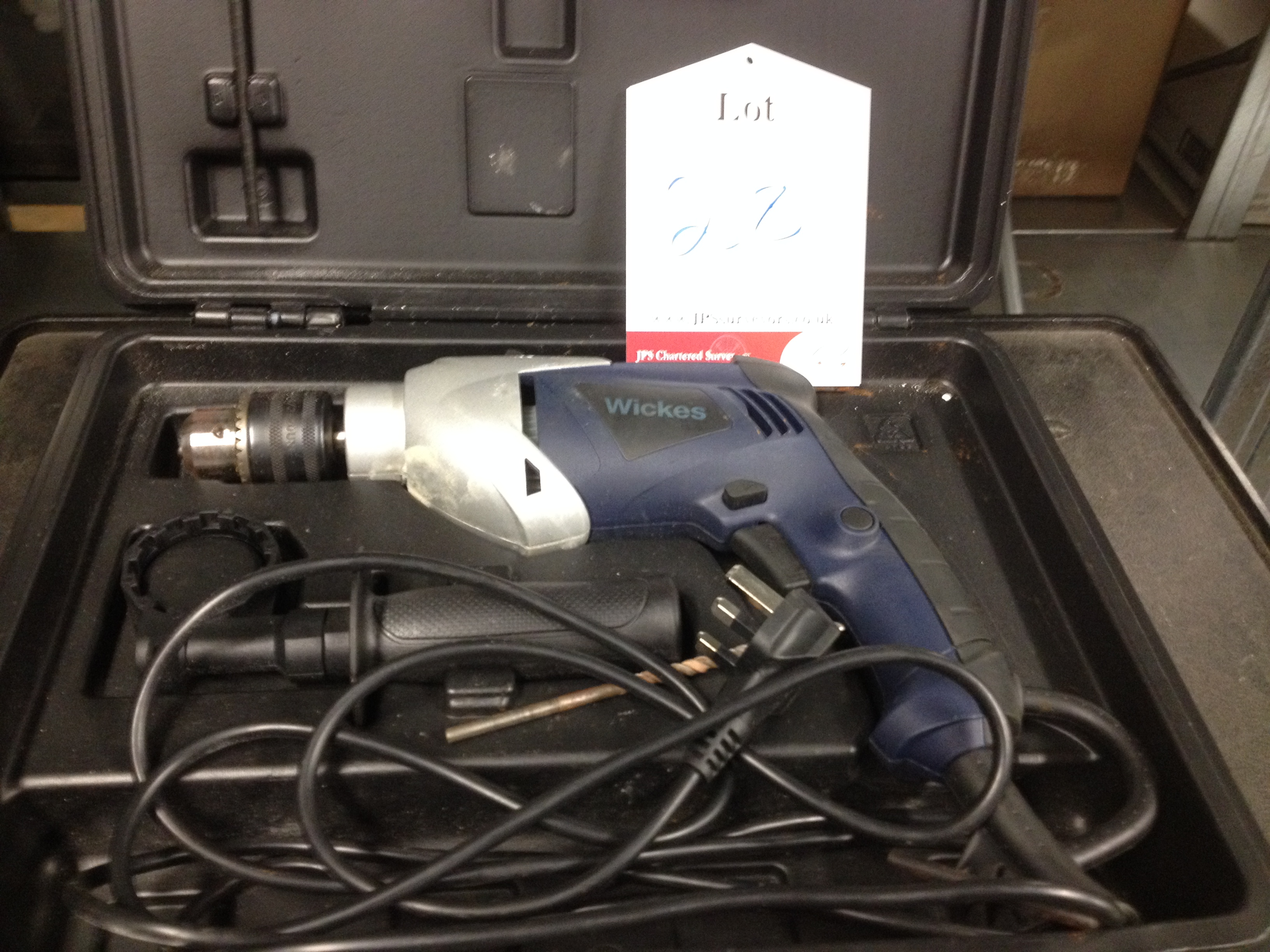 1 x Wickes Hammer drill with case