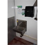 Stainless steel single station knee operated sink